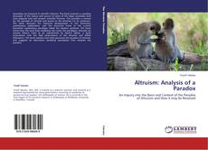 Couverture de Altruism: Analysis of a Paradox