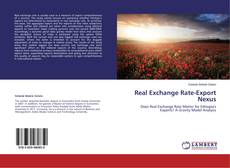 Real Exchange Rate-Export Nexus kitap kapağı