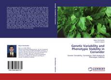 Bookcover of Genetic Variability and Phenotypic Stability in Coriander