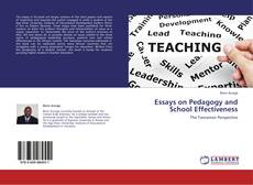 Portada del libro de Essays on Pedagogy and School Effectiveness