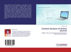 Bookcover of Content Analysis of Online Journal