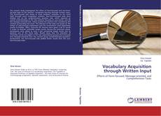 Bookcover of Vocabulary Acquisition through Written Input