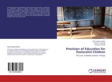 Buchcover von Provision of Education for Pastoralist Children