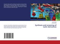 Couverture de Synthesis and screening of isatin derivatives