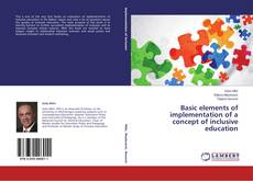 Buchcover von Basic elements of implementation of a concept of inclusive education