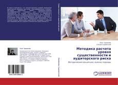 Buchcover von Методика расчета уровня существенности и аудиторского риска