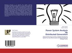 Couverture de Power System Analysis           By  Distributed Generation