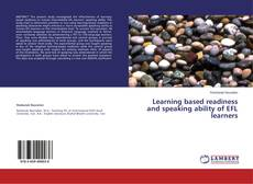 Copertina di Learning based readiness and speaking ability of EFL learners