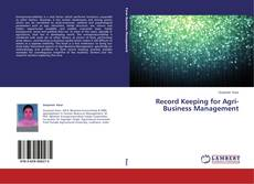 Copertina di Record Keeping for Agri-Business Management