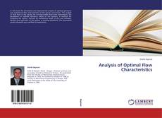 Analysis of Optimal Flow Characteristics kitap kapağı