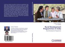 Buchcover von Rural Development Programmes in India