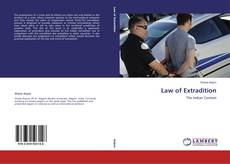 Bookcover of Law of Extradition