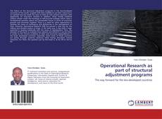 Capa do livro de Operational Research as part of structural adjustment programs