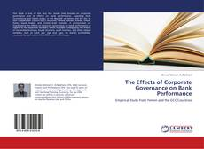 Portada del libro de The Effects of Corporate Governance on Bank Performance