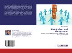 Buchcover von Risk Analysis and Management