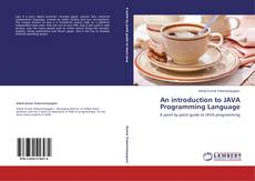 Bookcover of An introduction to JAVA Programming Language