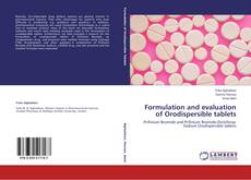 Couverture de Formulation and evaluation of Orodispersible tablets