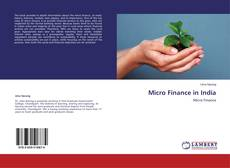 Micro Finance in India kitap kapağı