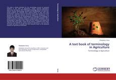 A text book of terminology in Agriculture的封面