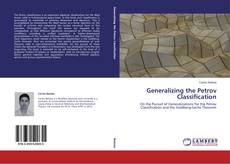 Bookcover of Generalizing the Petrov Classification