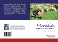 Capa do livro de Small ruminants' value chain in enhancing household food security
