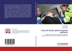 Bookcover of Care of acute spinal injuries patients