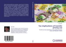 Tax implications of transfer pricing use kitap kapağı