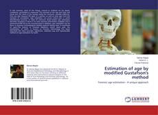 Capa do livro de Estimation of age by modified Gustafson's method