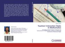 Bookcover of Teachers' Interaction Styles in Mathematics