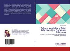Buchcover von Cultural Variability in Rater Bahaviour: Oral Proficiency Interviews