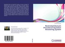 Buchcover von Restricted Domain Procedural Question Answering System