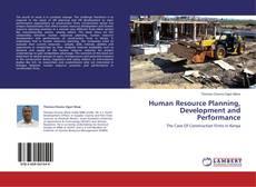 Copertina di Human Resource Planning, Development and Performance