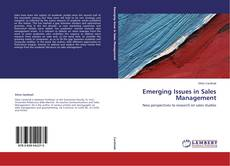 Bookcover of Emerging Issues in Sales Management