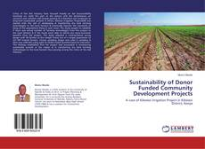 Portada del libro de Sustainability of Donor Funded Community Development Projects