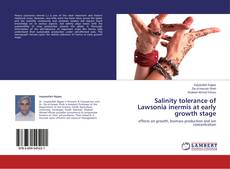 Bookcover of Salinity tolerance of Lawsonia inermis at early growth stage