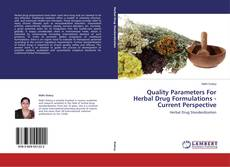 Bookcover of Quality Parameters For Herbal Drug Formulations -Current Perspective