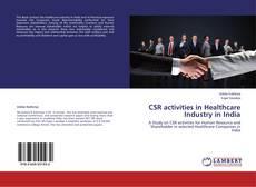 Portada del libro de CSR activities in Healthcare Industry in India