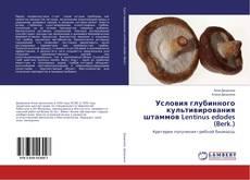 Bookcover of Условия глубинного культивирования штаммов Lentinus edodes (Berk.)