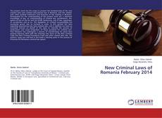Borítókép a  New Criminal Laws of Romania February 2014 - hoz