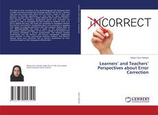 Couverture de Learners' and Teachers' Perspectives about Error Correction