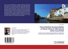 Capa do livro de Fiscal Deficit Sustainability of West African Monetary Zone Countries