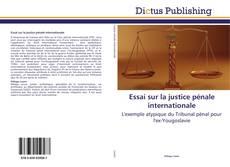 Bookcover of Essai sur la justice pénale internationale
