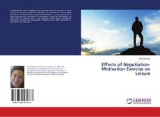 Buchcover von Effects of Negotiation-Motivation Exercise on Leisure