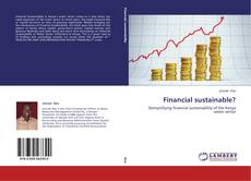 Portada del libro de Financial sustainable?