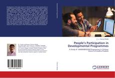 Bookcover of People's Participation in Developmental Programmes