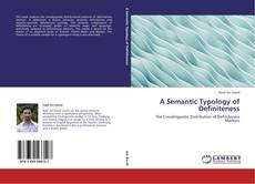 Buchcover von A Semantic Typology of Definiteness