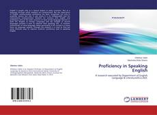 Bookcover of Proficiency in Speaking English