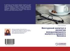 Portada del libro de Венчурный капитал в развитии международного малого и среднего бизнеса