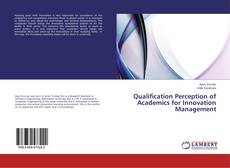 Couverture de Qualification Perception of Academics for Innovation Management