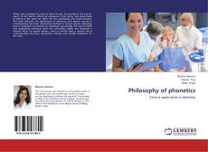 Bookcover of Philosophy of phonetics